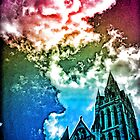 Rainbow Truro cathedral by Roxy J