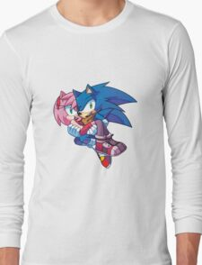Sonic Boom - Sonic & Amy Rose Long Sleeve T-Shirt