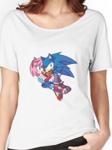 Sonic Boom - Sonic & Amy Rose Women's Relaxed Fit T-Shirt