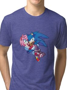 Sonic Boom - Sonic & Amy Rose Tri-blend T-Shirt