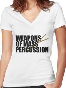 Drummer humor Women's Fitted V-Neck T-Shirt
