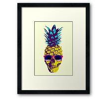 Pineapple Skull Framed Print