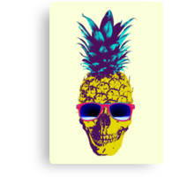 Pineapple Skull Canvas Print