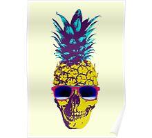 Pineapple Skull Poster