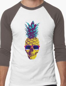 Pineapple Skull Men's Baseball ¾ T-Shirt