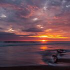 Sunset at Playas, Ecuador by Paul Wolf