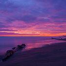 Purple Sunset at Playas, Ecuador by Paul Wolf