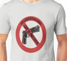 SAVE A LIFE SAY YES TO GUN CONTROL TEE SHIRT,PILLOWS,TOTE BAGS,ECT  Unisex T-Shirt
