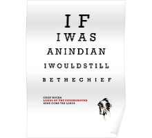 Indian Eye Chart Poster