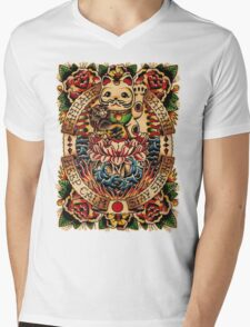 Gambare Japan Mens V-Neck T-Shirt