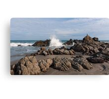 Crashing Waves at El Faro, Ecuador Canvas Print