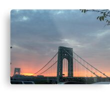 George Washington Bridge NYC Sunset Metal Print