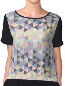 Triangles fun in pastel colors Chiffon Top
