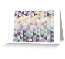 Triangles fun in pastel colors Greeting Card