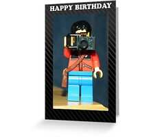 Lego Photographer - Birthday Greeting Card