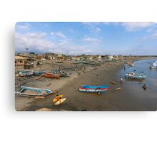 Beach Scene at Engabao, Ecuador Canvas Print