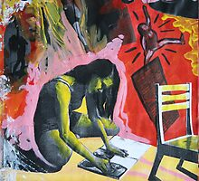Artist At Work II by Ginzer
