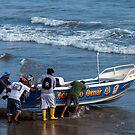 Launching the Boat, Engabao, Ecuador by Paul Wolf