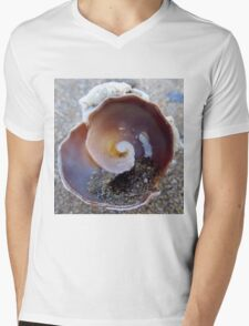 shell Mens V-Neck T-Shirt