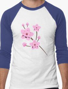Cherry Blossom Smile Men's Baseball ¾ T-Shirt