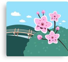 Cherry Blossom Smile Canvas Print