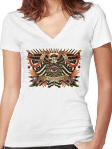 Black Eyes Made Natural (PT-BR) Women's Fitted V-Neck T-Shirt