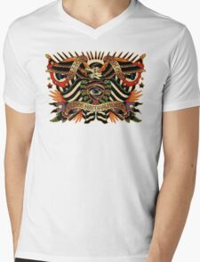 Black Eyes Made Natural (PT-BR) Mens V-Neck T-Shirt
