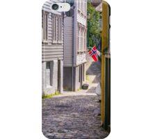 Streets of Bergen, Norway. iPhone Case/Skin