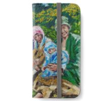 Easter Outing at The Gobbins, Islandmagee, in the 1920s iPhone Wallet/Case/Skin