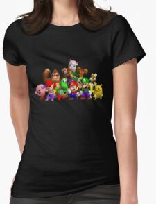 Super Smash Bros. 64 Cast Womens Fitted T-Shirt