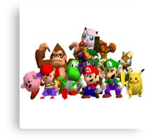 Super Smash Bros. 64 Cast Canvas Print