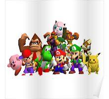 Super Smash Bros. 64 Cast Poster