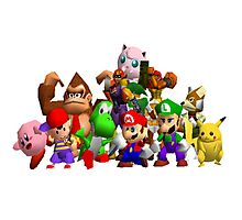 Super Smash Bros. 64 Cast Photographic Print