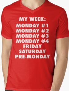 Everyday Is Monday Mens V-Neck T-Shirt