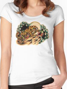 Tiger x Snake (Battle Royale) Women's Fitted Scoop T-Shirt