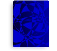Abstract Shattered Blue Glass Canvas Print