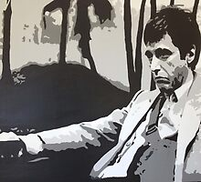 Scarface Movie Scene by DaveyBrownArt