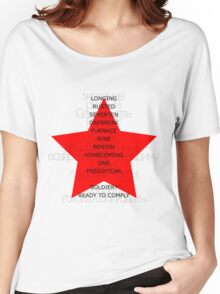 Winter Soldier Trigger Words Women's Relaxed Fit T-Shirt