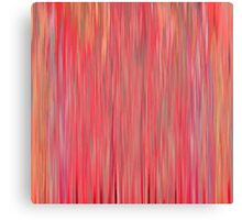 Abstract Coral Stripe Canvas Print