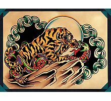 Tiger x Snake (Battle Royale) Photographic Print