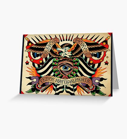 Black Eyes Made Natural (PT-BR) Greeting Card