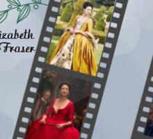 Outlander/Claire Fraser filmstrip frame Sticker