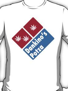 Dankino's Potza - Domino's Pizza Marijuana Parody T-Shirt