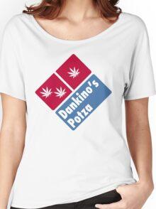Dankino's Potza - Domino's Pizza Marijuana Parody Women's Relaxed Fit T-Shirt