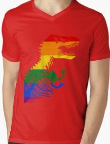 LGBT Rex Mens V-Neck T-Shirt