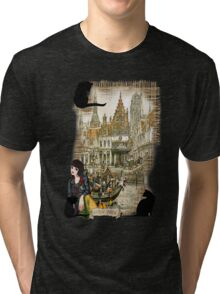 November - Canals in old Amsterdam Tri-blend T-Shirt