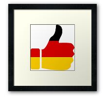Thumbs Up Germany Framed Print