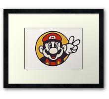 Mario Peace Framed Print