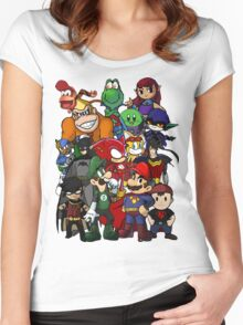 The Justice League of Nintendo and Sidekicks Women's Fitted Scoop T-Shirt