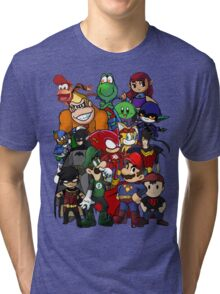 The Justice League of Nintendo and Sidekicks Tri-blend T-Shirt